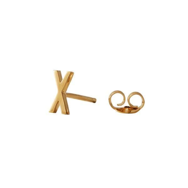 Ohrstecker X Gold von Design Letters