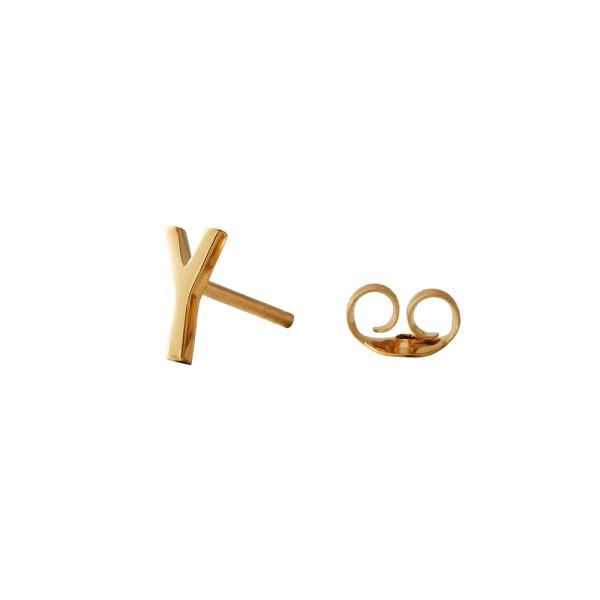 Ohrstecker Y Gold von Design Letters