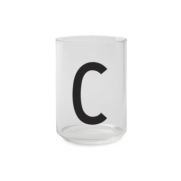 Design Letters Trinkglas Buchstabe C