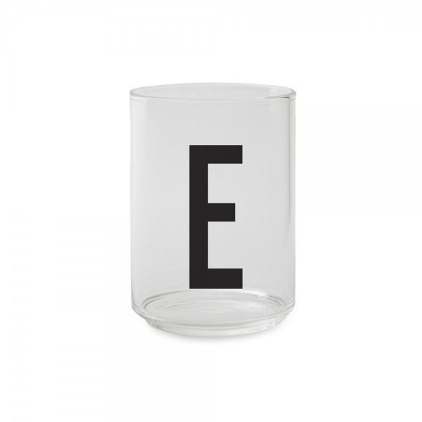 Design Letters Trinkglas Buchstabe E