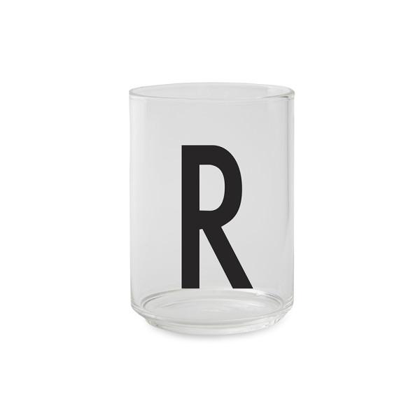 Design Letters Trinkglas Buchstabe R