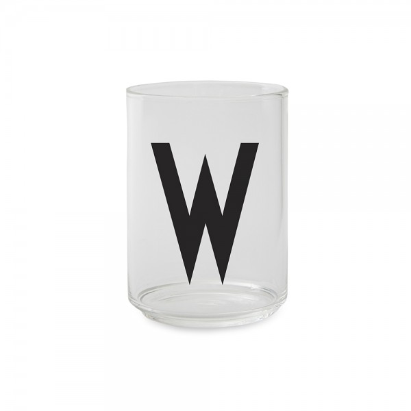 Design Letters Trinkglas Buchstabe W