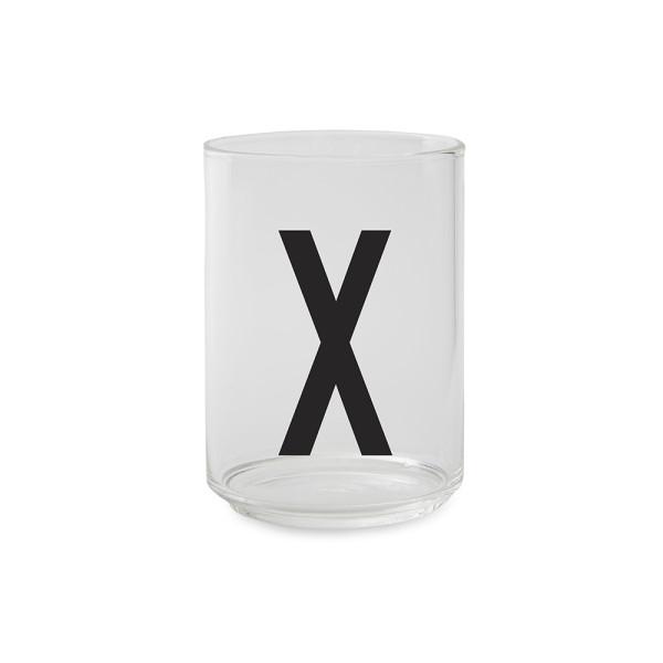 Design Letters Trinkglas Buchstabe X