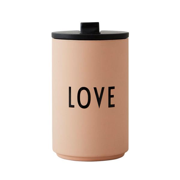 Thermos To Go Becher LOVE Pink von Design Letters