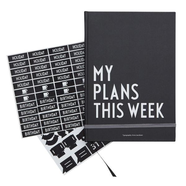 Wochenplaner my plans this week von Design Letters