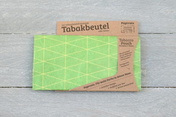 Tabakbeutel Dreiecke Outlines Grün
