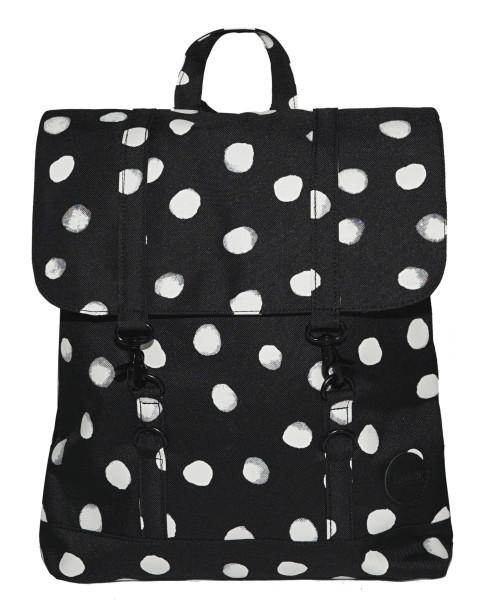 Rucksack City Backpack Mini Schwarz/Weiß Aqua Dot von Enter