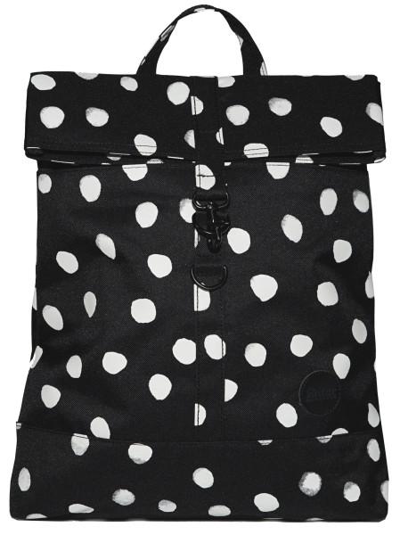Rucksack City Fold Top Backpack Schwarz/Weiß Aquadot von Enter