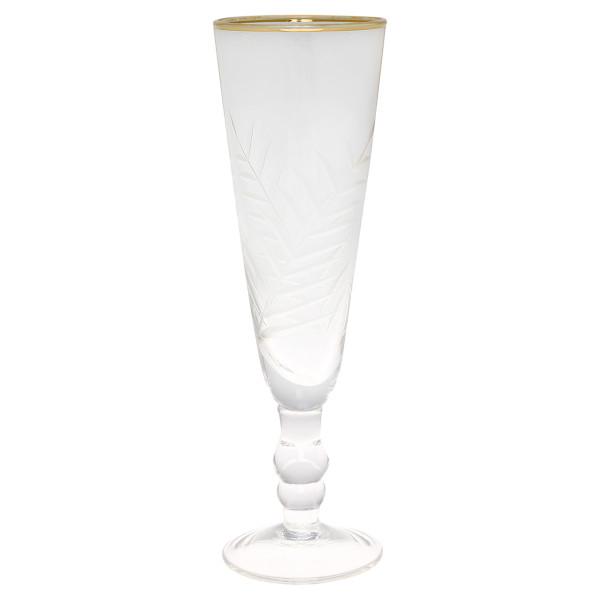 Champagner Glas mit Muster und Gold von GreenGate