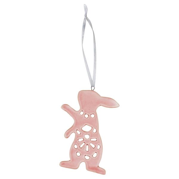 Anhänger Ornament Hase Pale Pink, hängend von GreenGate