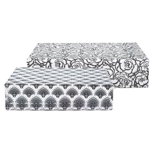 Große Aufbewahrungsbox Blossom Grey