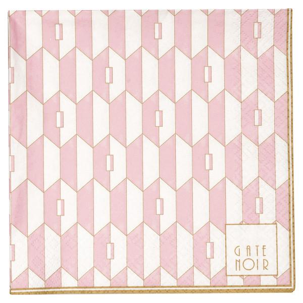 Große Papierservietten Aurelie Pale Pink