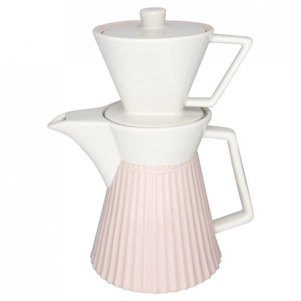 Kaffekanne mit Filter Alice Pale Pink