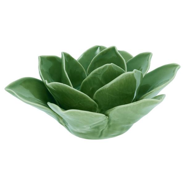 Kerzenhalter Flower Lotus Green M