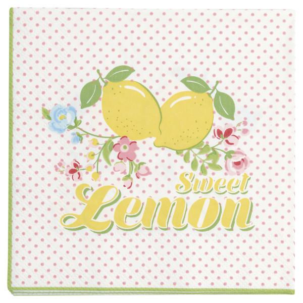 Kleine Papierserviette Limona White von GreenGate