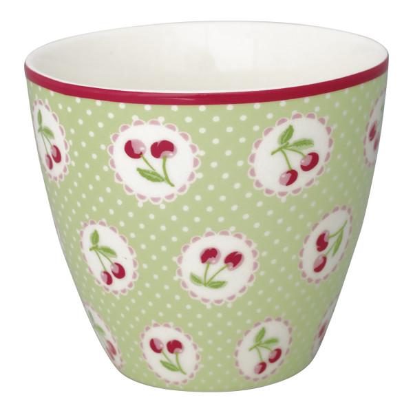 Latte Cup Cherry Berry Pale Green von GreenGate
