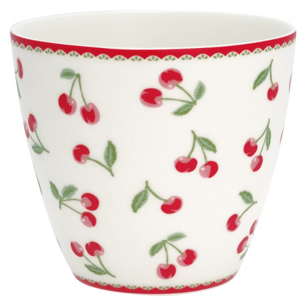 Latte Cup Cherry White