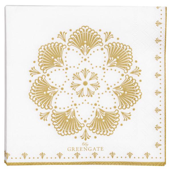 Kleine Papierservietten Elvina Gold