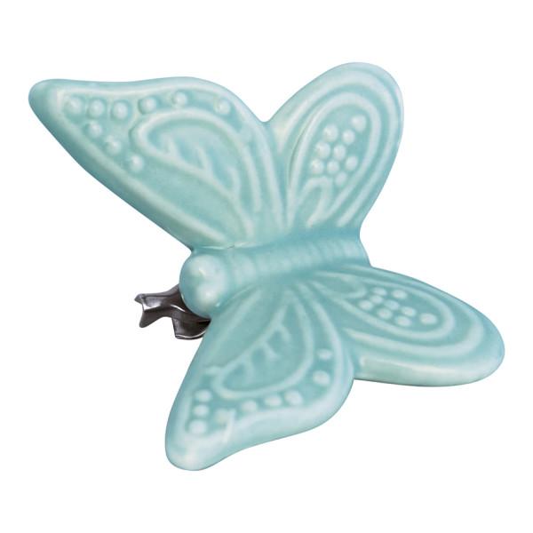 Ornament Schmetterling Pale Green mit Clip L