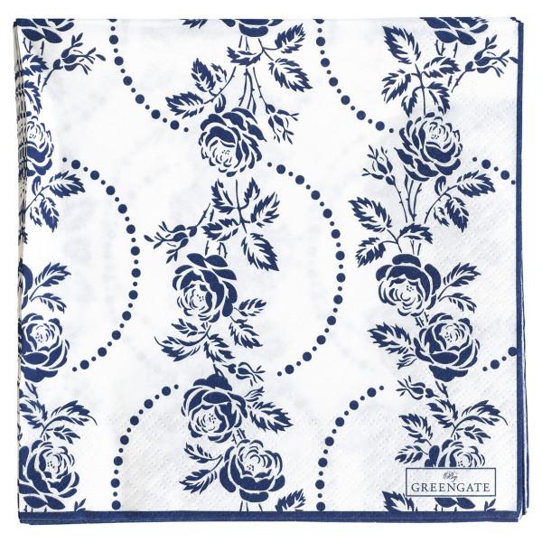 Große Papierservietten Fleur Blue