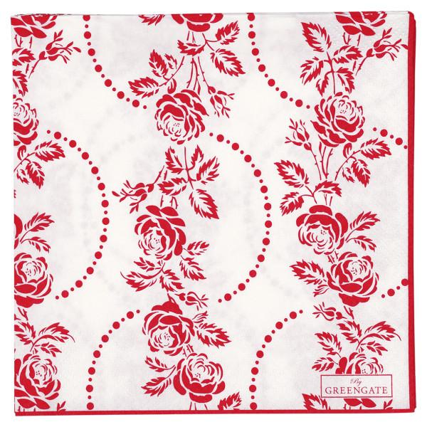 Große Papierservietten Fleur Red
