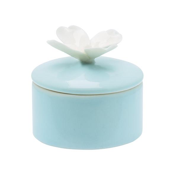 Schmuckdose Pale Blue mit Blume