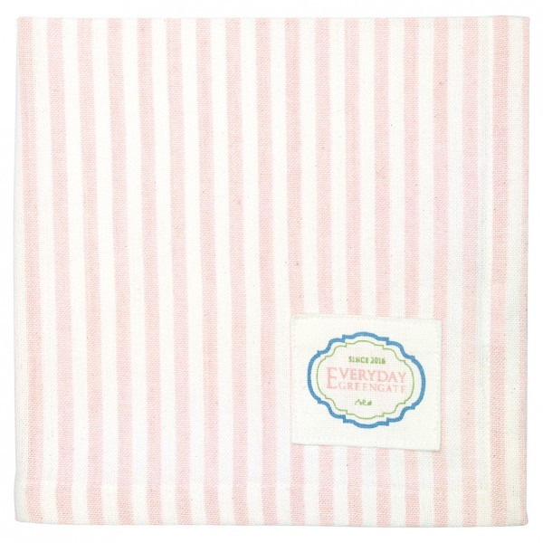 Stoffserviette Alice Stripe Pale Pink