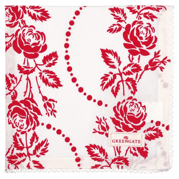 Stoffserviette Fleur Red