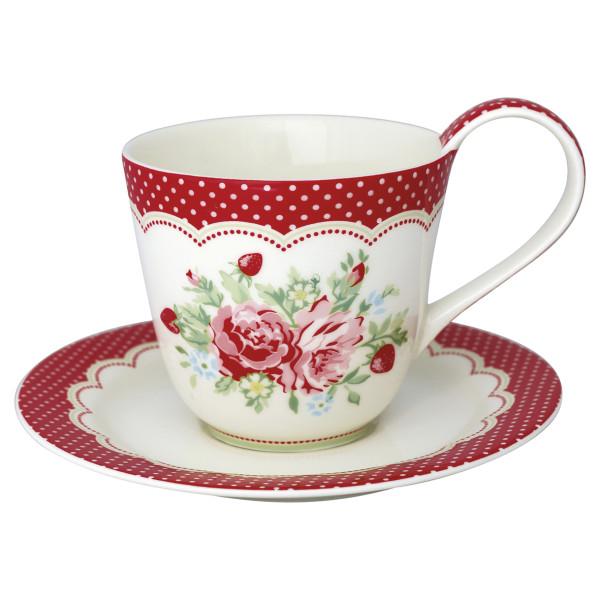 Tasse mit Untertasse Mary White von GreenGate