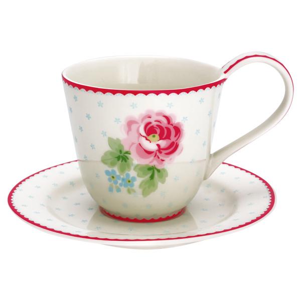 Tasse mit Untertasse Lily White von GreenGate