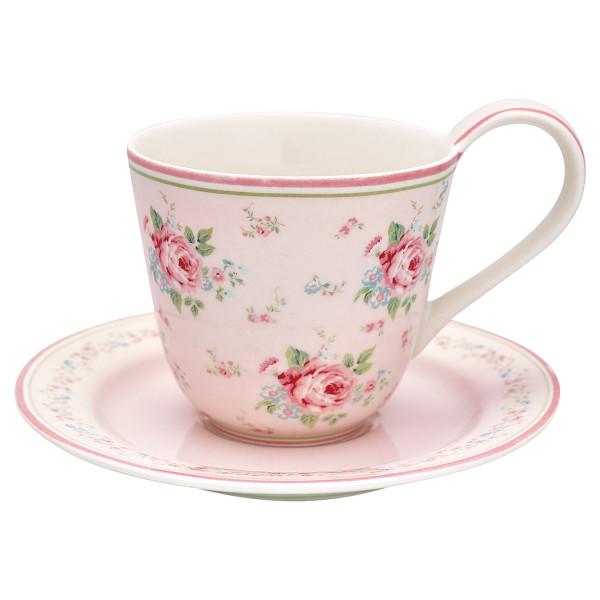 Tasse mit Untertasse Marley Pale Pink