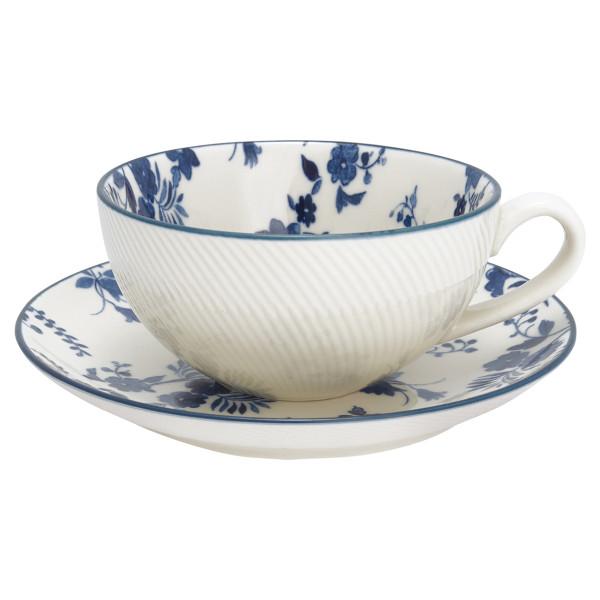 Tasse mit Untertasse Vanessa Blue