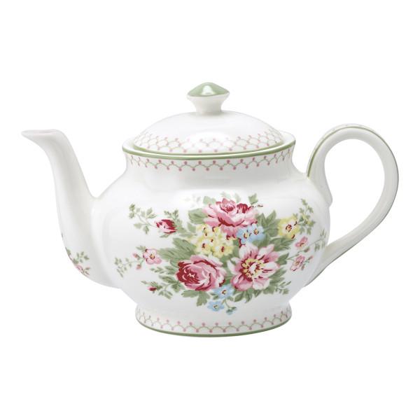 Teekanne rund Aurelia White von GreenGate