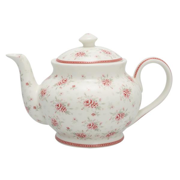 Teekanne rund Flora White