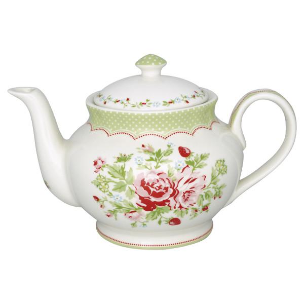 Teekanne rund Mary White von GreenGate