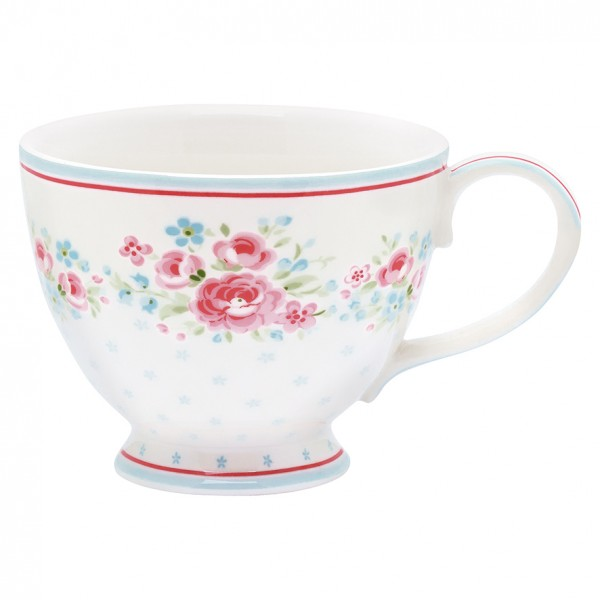 Teetasse Tess White