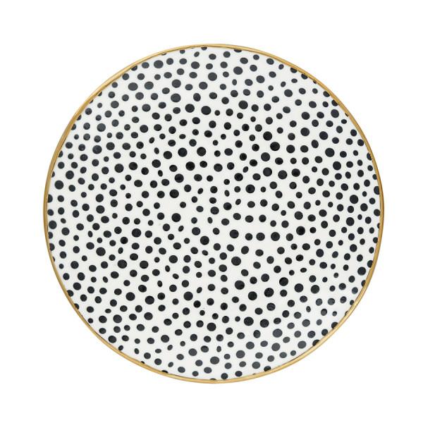 Teller Dot Black mit Gold von GreenGate