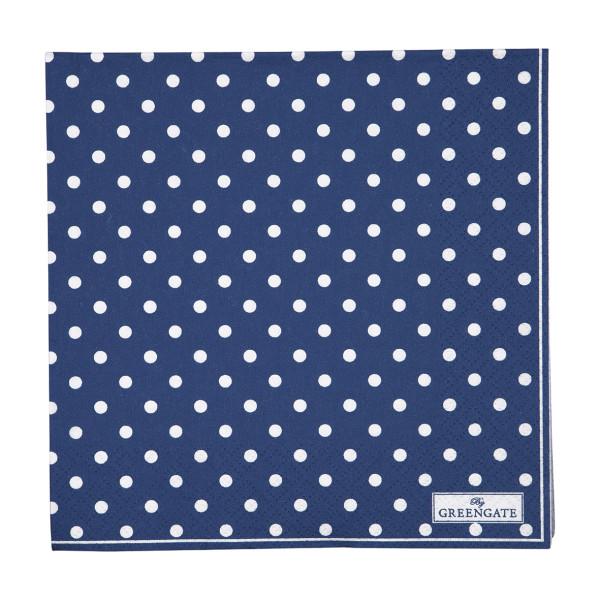 Große Papierservietten Spot Blue