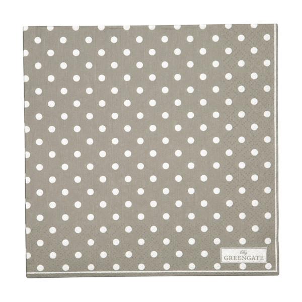 GreenGate Große Papierservietten Spot Grey