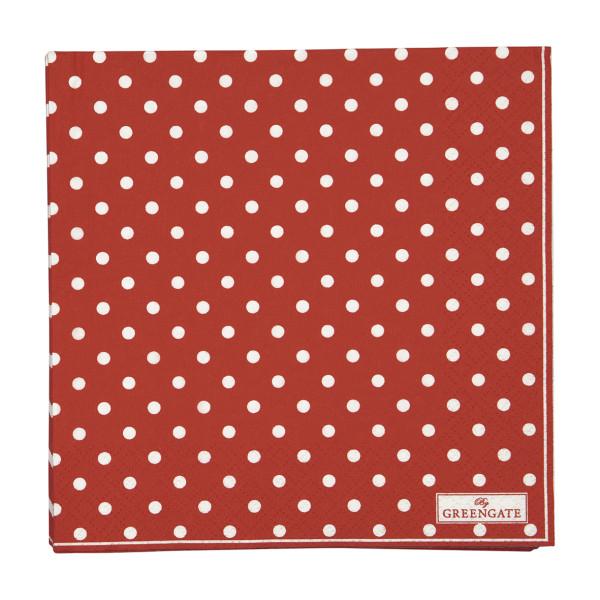 Große Papierservietten Spot Red von GreenGate