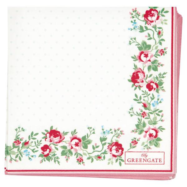 Kleine Papierservietten Gabby White von GreenGate