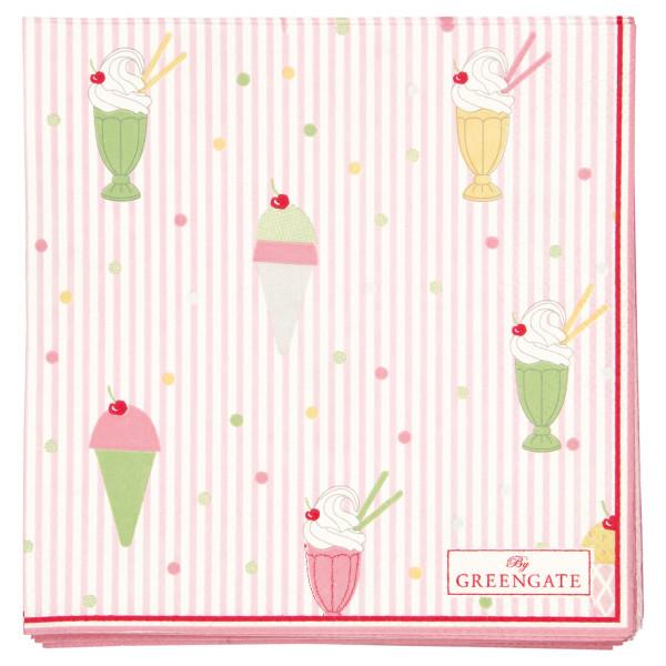 Kleine Papierservietten Isa Pale Pink von GreenGate