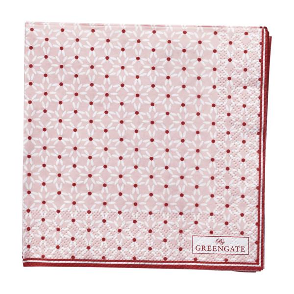 Kleine Papierservietten Juno Pale Pink von GreenGate