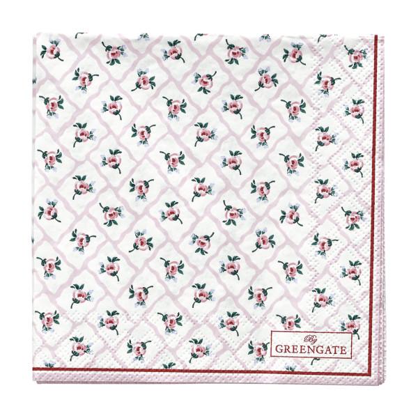 Kleine Papierservietten Rita Pale Pink