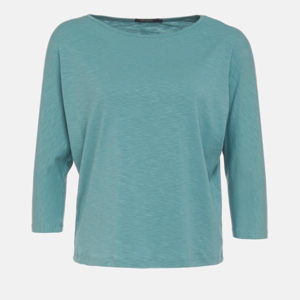 T-Shirt Smile Basic Dirty Blue L von Greenbomb