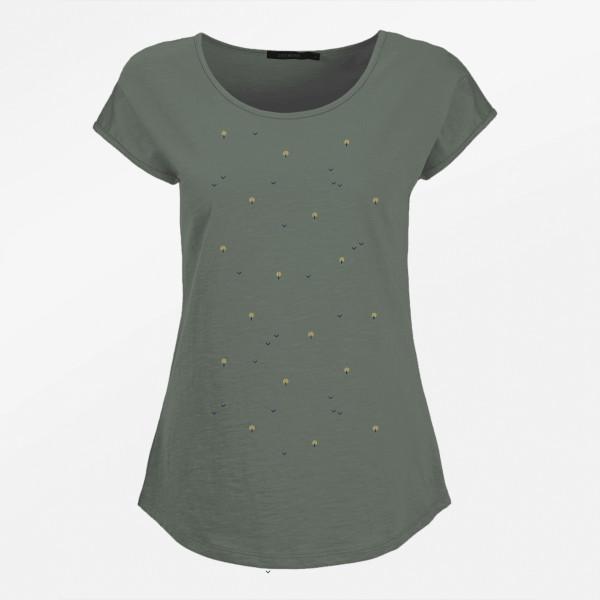 T-Shirt Cool Nature Green Wood Olive L von Greenbomb