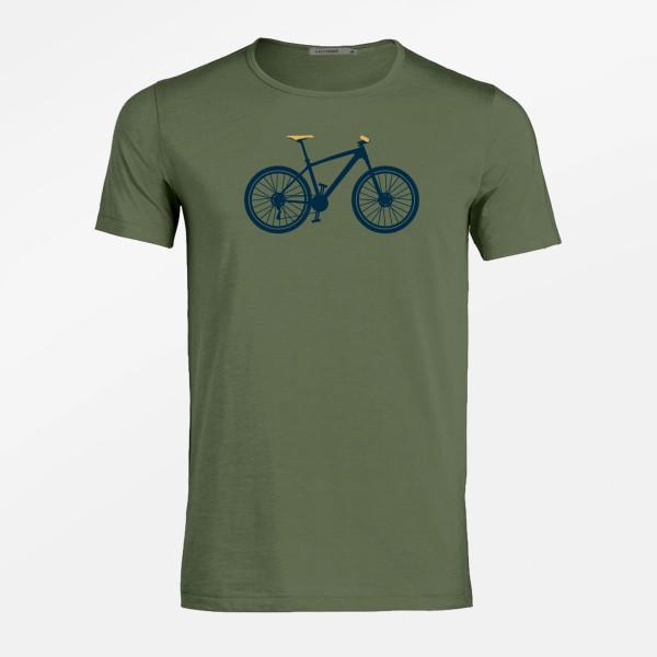 T-Shirt Herren Adores Slub Bike Mountain Steel Green XL von Greenbomb