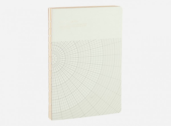 Notizbuch Geometic, Hellgrau
