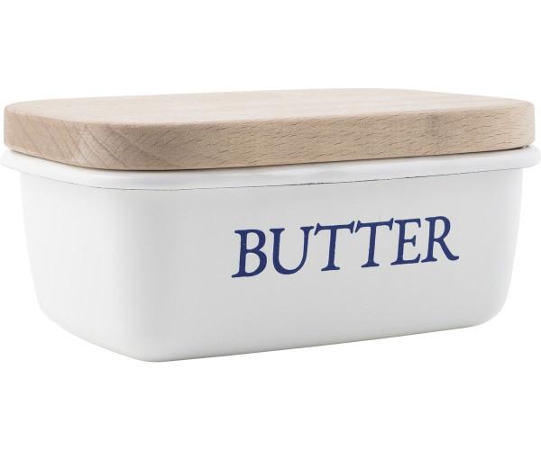 Butterschale mit Holzdeckel