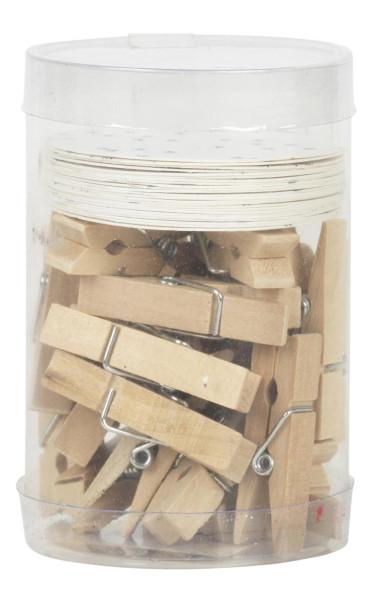 Geschenkanhänger Holzklammern 24 Stk. von IB Laursen